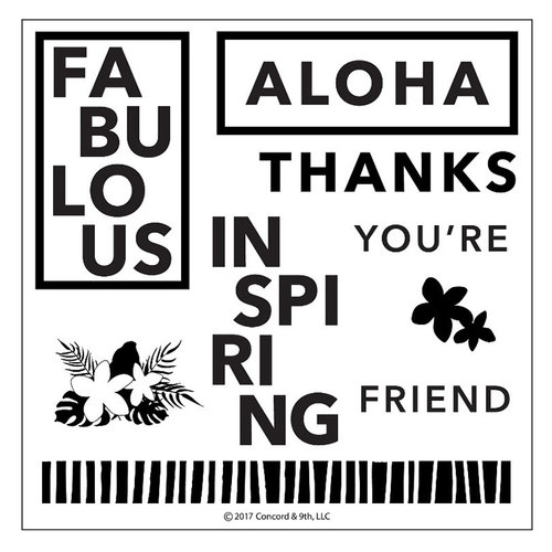 Concord and 9th - Clear Photopolymer Stamps - Aloha Friend