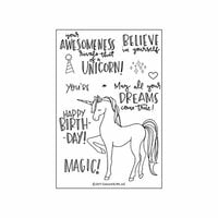 Concord and 9th - Clear Photopolymer Stamps - Unicorn Awesomeness