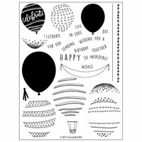 Concord and 9th - Clear Photopolymer Stamps - Happy Balloons