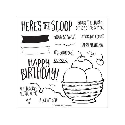 Concord and 9th - Clear Photopolymer Stamps - Here's the Scoop