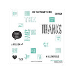 Concord and 9th - Clear Acrylic Stamps - Many Thanks Turnabout