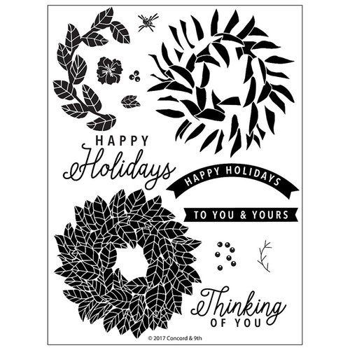 Concord and 9th - Christmas - Clear Acrylic Stamps - Magnolia Wreath