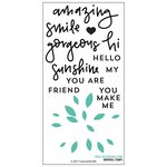 Concord and 9th - Clear Acrylic Stamps - Dahlia Turnabout