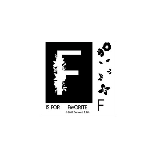Concord and 9th - Clear Photopolymer Stamps - Monogram F