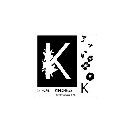 Concord and 9th - Clear Photopolymer Stamps - Monogram K