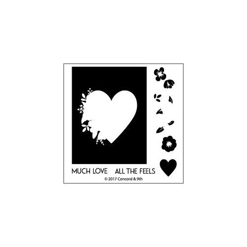 Concord and 9th - Clear Photopolymer Stamps - Monogram Heart
