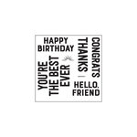Concord and 9th - Clear Acrylic Stamps - Everyday Greetings