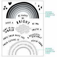 Concord and 9th - Clear Photopolymer Stamps - Rainbow Wishes
