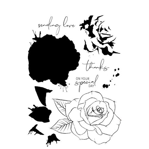 Concord and 9th - Clear Photopolymer Stamps - Painted Rose
