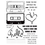 Concord and 9th - Clear Acrylic Stamps - Mix Tape