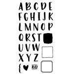 Concord and 9th - Clear Acrylic Stamps - Bold and Brushy - Uppercase
