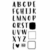 Concord and 9th - Clear Photopolymer Stamps - Bold and Brushy - Uppercase