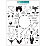 Concord and 9th - Clear Acrylic Stamps - Furry Friends