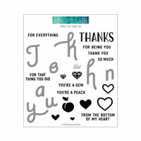 Concord and 9th - Clear Photopolymer Stamps - Triple-Step Thank You