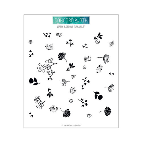 Concord and 9th - Clear Photopolymer Stamps - Lovely Blossoms Turnabout