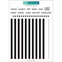 Concord and 9th - Clear Photopolymer Stamps - Stripes and Sayings