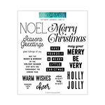 Concord and 9th - Christmas - Clear Photopolymer Stamps - Very Merry Sentiments