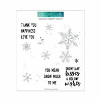 Concord and 9th - Christmas - Clear Photopolymer Stamps - Snowflakes Turnabout