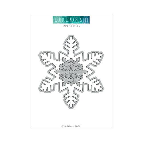 Concord and 9th Snow Flurries Die Set