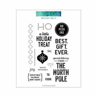Concord and 9th - Christmas - Clear Photopolymer Stamps - Holiday Cheer Tags