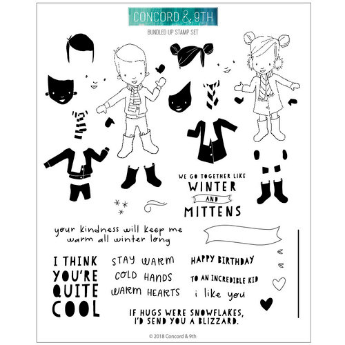 Concord and 9th - Clear Photopolymer Stamps - Bundled Up