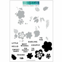 Concord and 9th - Clear Photopolymer Stamps - Darling Petals Turnabout
