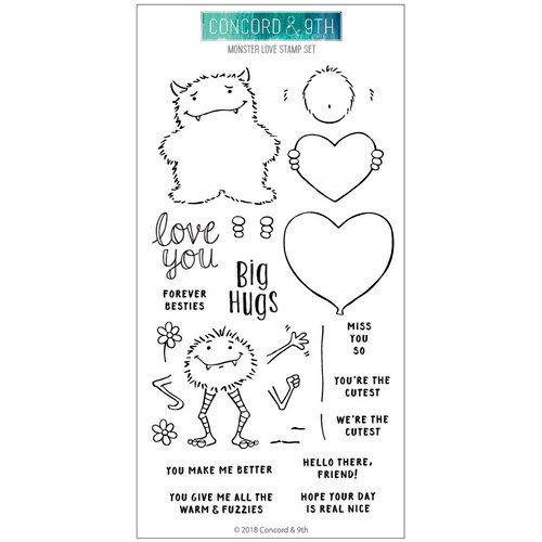 Concord and 9th - Clear Photopolymer Stamps - Monster Love