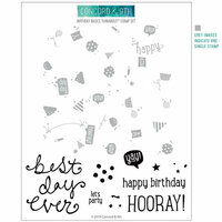 Concord and 9th - Clear Photopolymer Stamps - Birthday Basics Turnabout