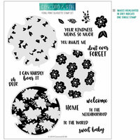Concord and 9th - Clear Photopolymer Stamps - Floral Print Silhouette