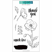 Concord and 9th - Clear Photopolymer Stamps - Pretty Poppy