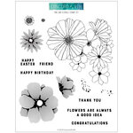 Concord and 9th - Clear Photopolymer Stamps - Fine Line Florals
