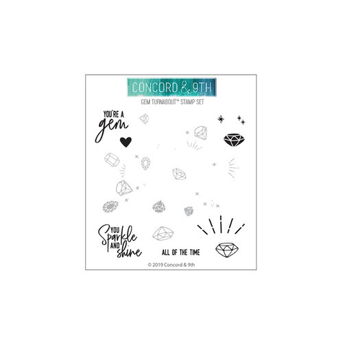 Concord and 9th - Clear Photopolymer Stamps - Gem Turnabout