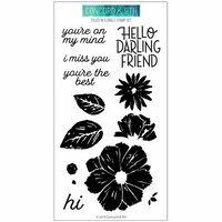 Concord and 9th - Clear Photopolymer Stamps - Filled In Florals