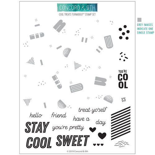 Concord and 9th - Clear Photopolymer Stamps - Cool Treats Turnabout