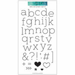 Concord and 9th - Clear Photopolymer Stamps - Simple Serif Alphabet