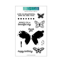 Concord and 9th - Clear Photopolymer Stamps - Beautiful Butterfly