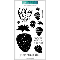 Concord and 9th - Clear Photopolymer Stamps - Sweet Strawberries
