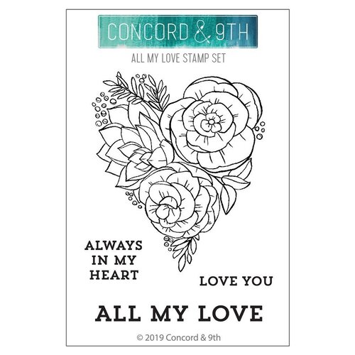 Concord and 9th - Clear Photopolymer Stamps - All My Love