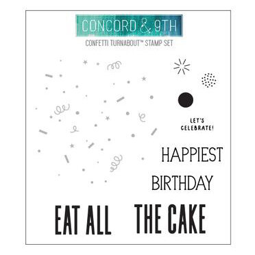 Concord and 9th - Clear Photopolymer Stamps - Confetti Turnabout