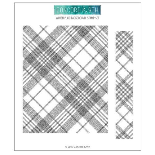Concord and 9th - Clear Photopolymer Stamps - Woven Plaid Background