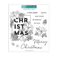 Concord and 9th - Clear Photopolymer Stamps - Christmas Florals