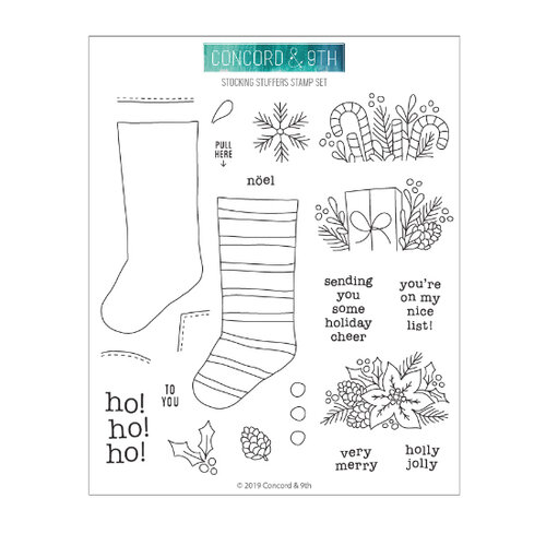 Concord and 9th - Clear Photopolymer Stamps - Stocking Stuffers