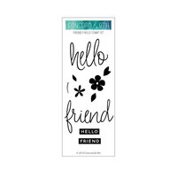 Concord and 9th - Clear Photopolymer Stamps - Friendly Hello