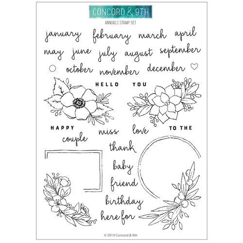 Concord and 9th - Clear Photopolymer Stamps - Annuals