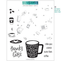 Concord and 9th - Clear Photopolymer Stamps - Coffee Blend Turnabout