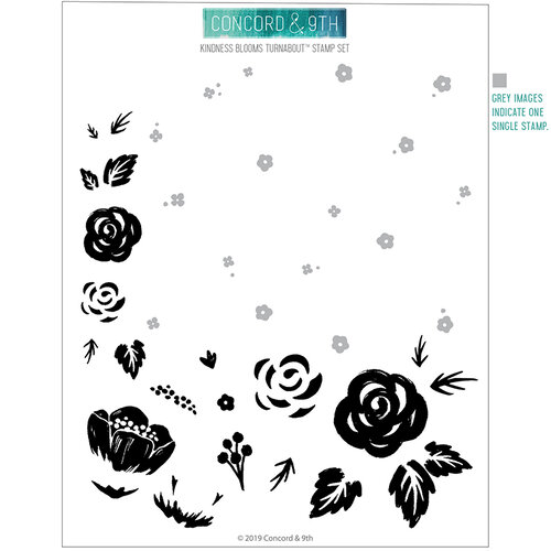Concord and 9th - Winter Wonderland Collection - Clear Photopolymer Stamps - Kindness Blooms Turnabout