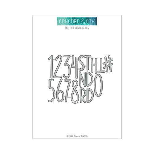 Concord and 9th - Winter Wonderland Collection - Dies - Tall Type Numbers