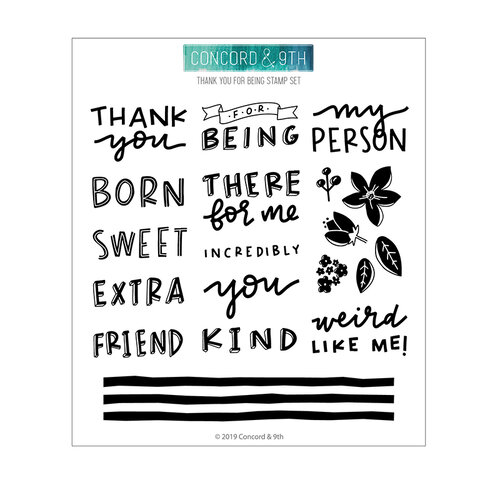 Concord and 9th - Winter Wonderland Collection - Clear Photopolymer Stamps - Thank You for Being