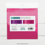 Concord and 9th - 6 x 6 Paper Pad - Flirty Foil Paper Pack - Fuchsia and Purple
