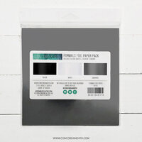 Concord and 9th - 6 x 6 Paper Pad - Formals Foil Paper Pack - Black, Graphite, and White